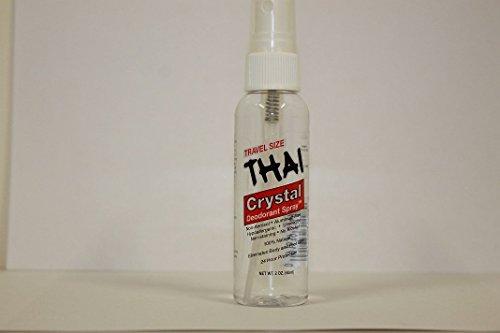 THAI Travel Sized Crystal Mist Deodorant Body Spray, Unscented, 2 Fluid Ounce (Deodorant Crystal Spray Mist)