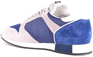 D'ACQUASPARTA Men's MCBI34886 Blue Suede Sneakers