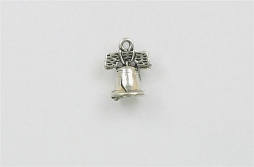 - Sterling Silver 3-D Liberty Bell Charm - Jewelry Accessories Key Chain Bracelet Necklace Pendants