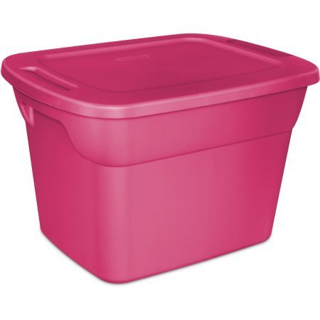 Case of 8 Sterilite 18 Gallon Tote Box In Fuchsia Burst