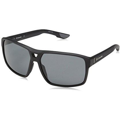 Columbia Men Aviator - Columbia Men's Ridge Aviator Sunglasses, Matte Black, 62 mm