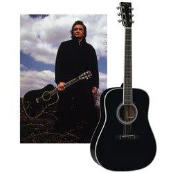d35 johnny cash acoustic guitar black musical instruments. Black Bedroom Furniture Sets. Home Design Ideas