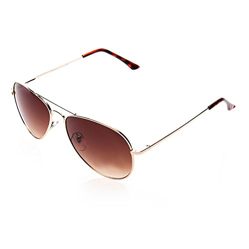 NYS Collection Eyewear Sullivan Street Aviator Sunglasses (Gold, - Nys Eyewear
