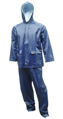 2PC XL Navy Rain Suit (0.25 Mm Pvc Rainsuit)