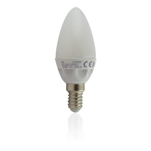 Ampoule LED E14 Flamme 5W blanc chaud - éclairage 40W - 470 lumens - allumage...