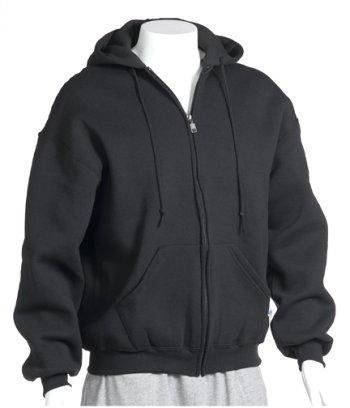Russell Athletic Men's Big  Fleece Zip-Front Hoodie, Black,
