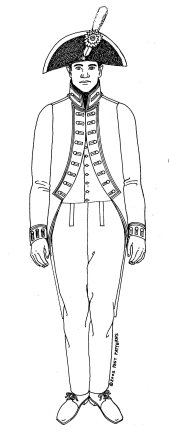 Mens Colonial Costumes Patterns - 1804 U.S. Army Issue Artillery Coat