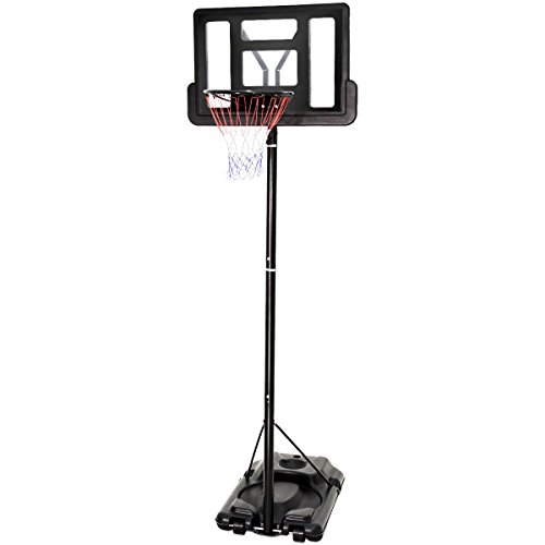 Giantex Portable Basketball Hoop System In-Ground Base NBA Outdoor Indoor Adjustable Height Stand Poolside Portable Basketball System w/Wheels Shatterproof Backboard – DiZiSports Store