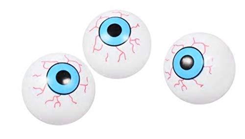 Halloween Eyeball Ping Pong Balls (Blue Plastic Ping Pong Eyeballs (Bonus Decor) Halloween Spooky Creepy Haunted House Kids Teen Toddlers (BLUE))