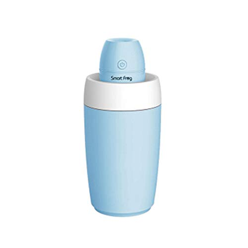 Smart Frog Portable Mini USB Car Humidifier Cool Mist Humidifier Air Purifier for Room and Car with Water Bottle (Blue)