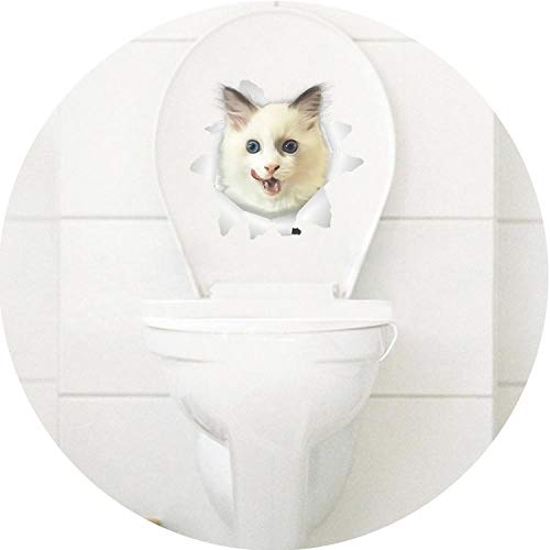 Cats 3D Wall Sticker Toilet Stickers Hole View Vivid s Bathroom Home Decoration Animal Vinyl Decals Art Sticker Wall Poster,Cat (Best Globe House Products Cat Trees)