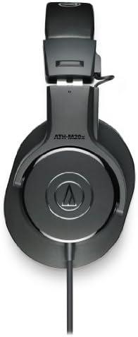 Audio-Technica ATH-M20x Professional Studio Monitor Headphones, Black 319JKptlidL