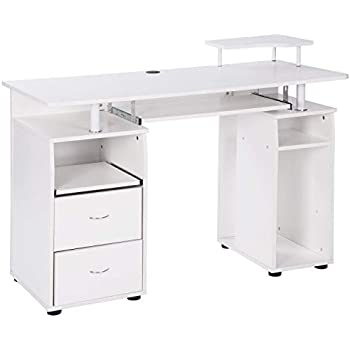 Amazon Com White Computer Desk Small Office Desk Work