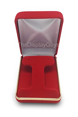 Best Diy Costumes Men (The Display Guys Deluxe VELVET Gift Jewelry Box Presentation Display Case with Gold Trim Metal Hinge For Wedding Proposal Engagement or Retail Shop (2 1/4x3x1 1/4 inch For Earring Hoop, Red))