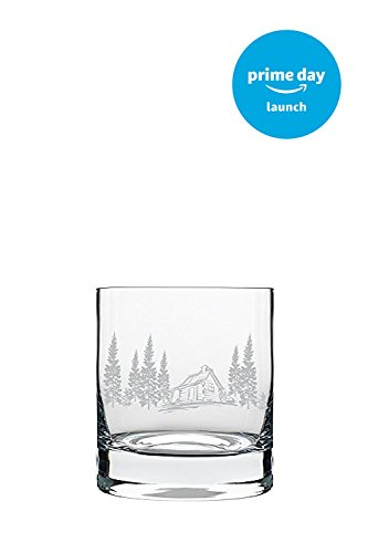 Exclusive for Amazon Prime Members - Cabin in the Woods Whiskey Rocks Glass (Frosted Rocks Glass)
