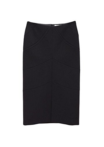 - Jil Sander Spiga Black Wool Pencil Skirt 36