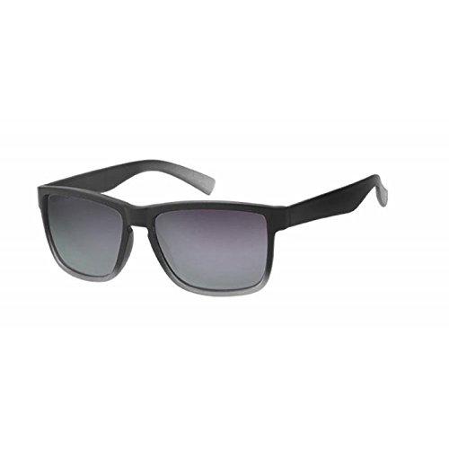 Sonnenbrille Herren Nerd kantig 400 UV Wayfarer zweifarbig Pantosteg braun E8AM1z
