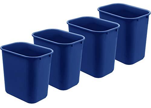 Acrimet Wastebasket 27QT Plastic (Blue Color) (4 Pack)