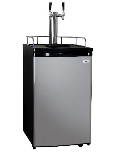 Kegco K199SS-2 Kegerator Beer Dispenser - Double Faucet - D System - Stainless (Pony Keg Dispenser)