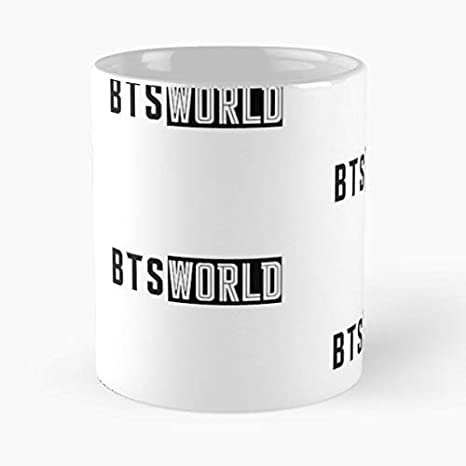 Amazon.com: Bts World New Logo 2019 - Taza de café de ...