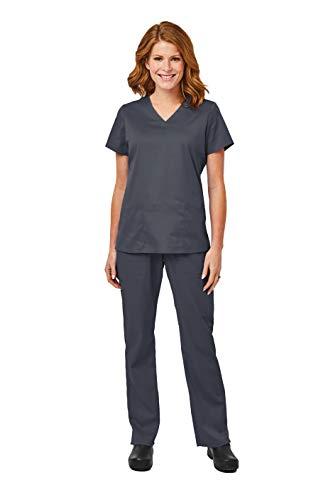 - Elements by Alexander's Uniforms EL9925 Women's Four Way Stretch Scrub Set (Pewter, X-Small)