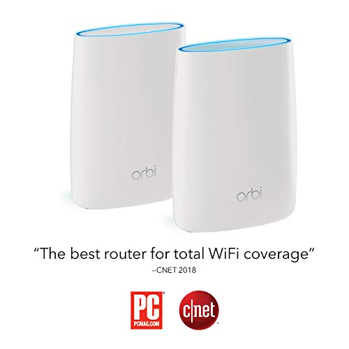 NETGEAR Orbi Ultra-Performance Whole Home Mesh WiFi System - fastest WiFi  router and single satellite extender with speeds up to 3 Gbps over 5,000  sq
