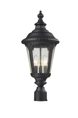 Z-Lite 545PHM-BK Outdoor Post Light