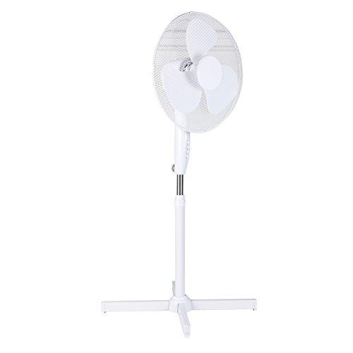 Standventilator mit Schwenkfunktion 3 Geschwindigkeiten und Oszillation der Ventilator hat einen Ø von 40 cm bis 125cm höhenverstellbar