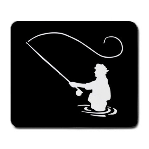 Fly Fishing fisherman Large Mousepad Mouse Pad Great Gift Idea