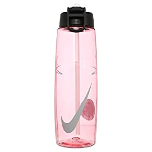 Nike T1 Flow Swoosh Water Bottle 32oz Ion Pink/Wolf Grey Athletic Sports Equipment