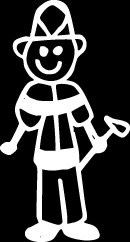 Fireman Firefighter Stick Figure Family stick em up White vinyl Die Cut vinyl Decal sticker for any smooth surface