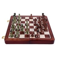 Wooden Folding Chessboard Chess Game Set King 6.5cm Best gift f Game Board by KAMUNG