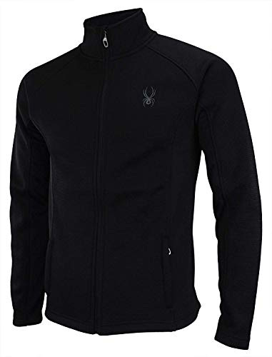 Spyder Men Constant Full Zip Sweater Black Tonal Size M