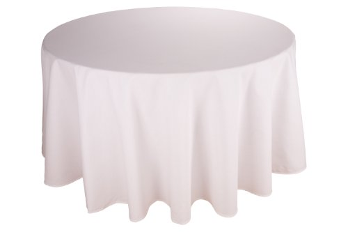 Riegel Permalux Cottonblend 120-Inch Round Tablecloth, White