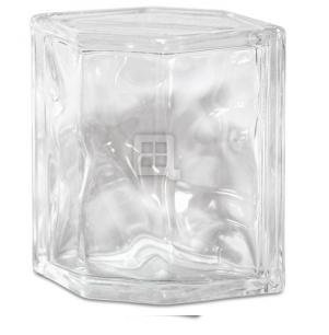 Quality Glass Block 8 x 6 x 4 Decora Hedron Glass Block