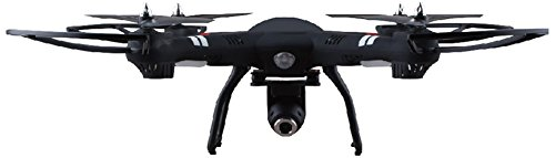 Polaroid PL2300 Remote Control Camera Drone Vehicle, Black