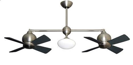 Amazon.com: Metropolitan moderna doble ventilador de techo ...