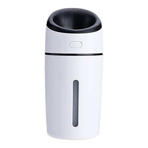 WANGYUJIE Air humidifier Evaporator 320ml Travel humidifier with Quiet Operation and Automatic Shut-Off humidifier,Black - 320 Cherry