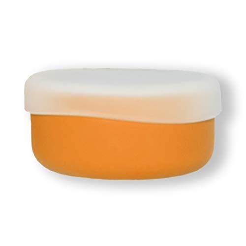 modern-twist 100% plastic free silicone waterproof, dishwasher safe, Snack Bowl, Orange