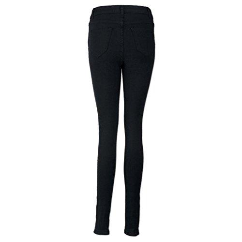 Allungare Slim Casuale Matita Denim Strappato Ginocchio Tagliare Donna sottile Jeans Pantaloni BYSTE q0pFp