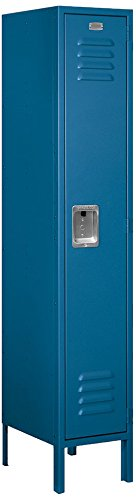 Salsbury Industries 61155BL-U Single Tier 12-Inch Wide 5-Feet High 15-Inch Deep Unassembled Standard Metal Locker, Blue (15 Inch Wide Lockers)