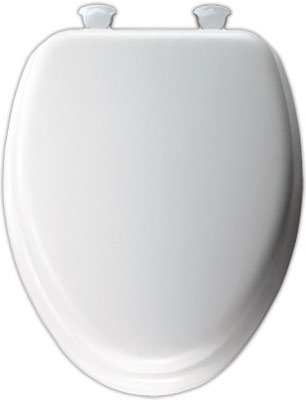 Vinyl Toilet Seat - Mayfair 113EC000 White Elongated Deluxe Soft Toilet Seat