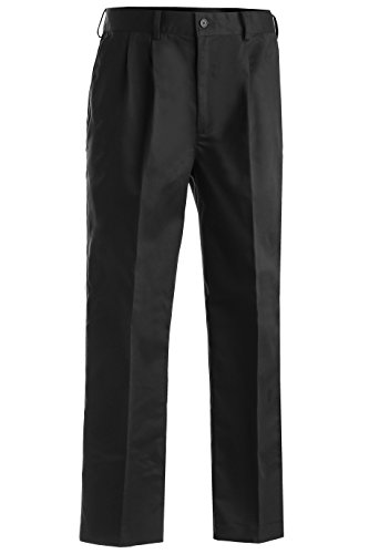 Edwards Men's Easy Fit Chino Pleated Pant, BLACK, 40 (Pleated Front Chino)