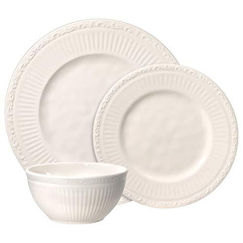 Mikasa Italian Countryside Melamine Outdoor Dinnerware Set (12 Piece), White
