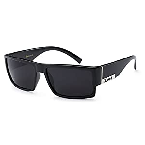 Locs Mens Flat Top Gangster Sunglasses Black Silver Frame 91026