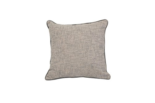 Custom Fringed Square Pillow - Urban Loft by Westex Movado Fringed Grey Feather Filled Decorative Throw Pillow Cushion, 20
