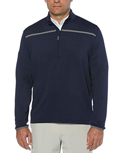 Callaway Men's Golf Chest Stripe Long Sleeve 1/4 Zip Mock Pullover