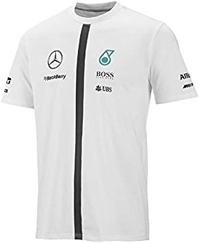 Mercedes – Camiseta para Hombre, Todo el año, Hombre, Color Blanco ...