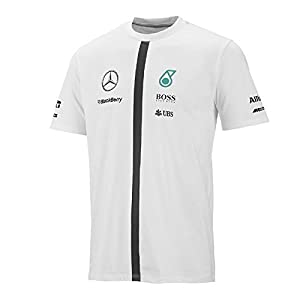 Mercedes amg petronas white team tee shirt for Mercedes benz shirts and clothing