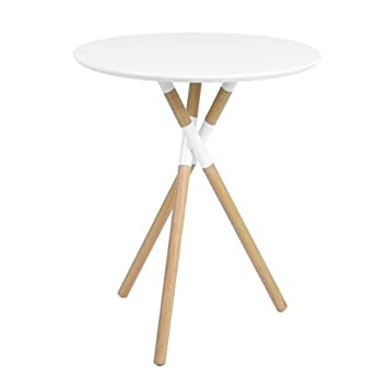 Excellent Jamesdar Blythe Inch Round Table White Natural Wood Legs With 24  Inch Round Coffee Table